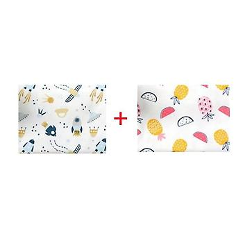 2 Pc's/pack 100 X 76cm newborn baby bed sheets- Cotton Super Soft Crib Sheet