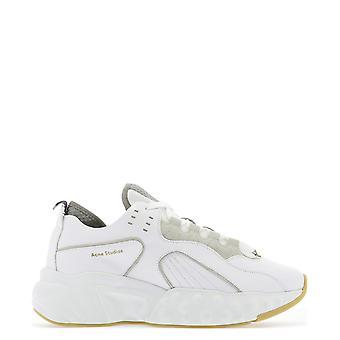 Acne Studios Bd0002white Men-apos;s White Leather Sneakers