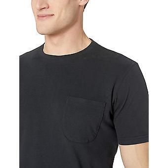 Goodthreads Men's Short-Sleeve Sueded Jersey Crewneck Pocket T-shirt, Zwart, ...