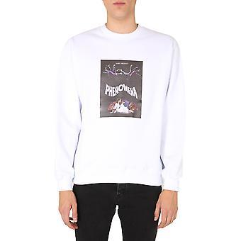 Msgm 2940mm20920759901 Mænd's Hvid Bomuld Sweatshirt