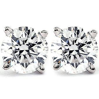 1 Ct TDW Platinum Diamond Skrue Tilbake Studs IGI Sertifisert