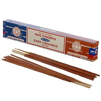 Puckator Satya Nag Champa et bâtons d'encens à la cannelle foncée