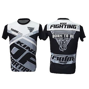 T-paita Muay Thai Top Thai Nyrkkeily MMA Sport Wear Unisex - (Musta)