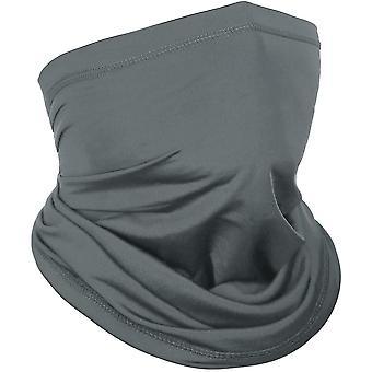 Gesichtsschutz / Schal mit UV-Schutz Dunkelgrau (eine Größe)