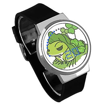 Nepremokavé svetelné LED digitálne dotykové detské hodinky - Cestovanie žaba #24