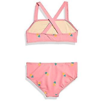 Essentials Girl's 2 piezas Bikini Set, Piña Rosa, M