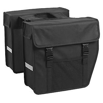 7-series Double bike bag 24 L Black