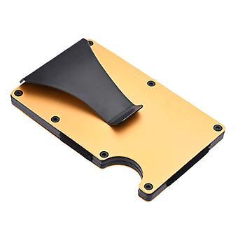 Gemeer Hliníkové uhlíkové vlákna Peňaženka - Peňaženka Držiteľ karty Kreditná karta Peňažný klip - Zlato