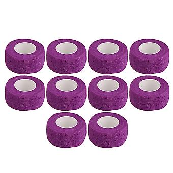 10PCS Breathable Bandage Self-Adherent Sport Tape Width 2.5cm Purple