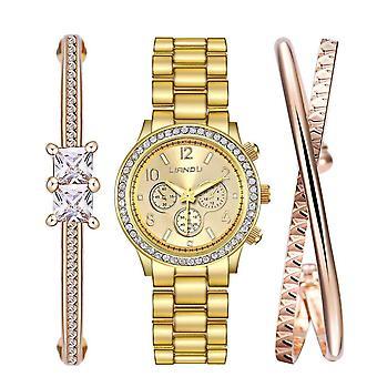 LIANDU LD1007J Diamond Shining Bracelet and Watch Set Casual Style women Watches