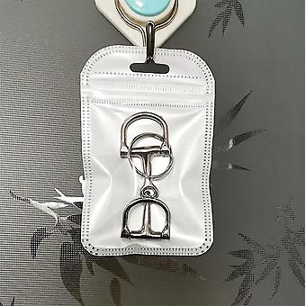 Horse Dee Bit Key Ring,with O Ring (silver)