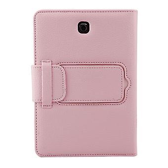 ل Galaxy Tab S2 8.0 T710 / T715 2 في 1 لوحة مفاتيح بلوتوث قابل للفصل الجلود الليتشي حقيبة الجلود مع حامل(الوردي)