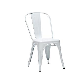 4x Metal Tolix Style Dining Chairs