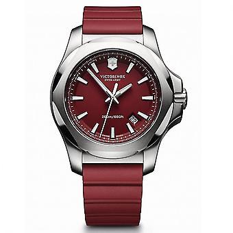 Victorinox Swiss Army 241719.1 I.N.O.X Rood rubber en staal Zwitsers horloge