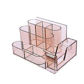 Прозрачный канцелярский ящик для хранения, организатор стола