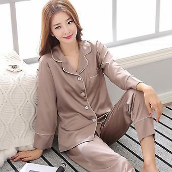 Camicia uomo camicia da notte Pantaloni sonno pigiami set, biancheria da notte a maniche lunghe