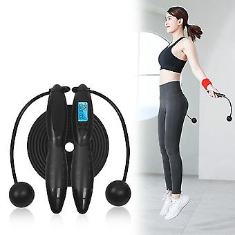 Smart Jump Rope Fitness Sport Skipping Ropes with Anti-Slip Hand Grip with Anti-Slip Hand Grip with LCD Screen Showing