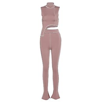 Simenual Casual Sporty Active Wear Matching Set Mujeres Entrenamiento Sin Mangas