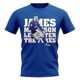 James Maddison Leicester Pelaaja T-paita (Royal)