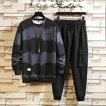 Autumn Spring Hoodies Casual Tracksuit Sweatshirt + Sweatpants Track Suit