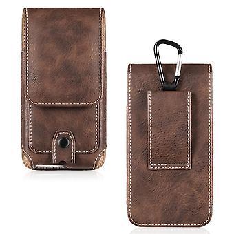Universal Pouch Leather Phone Case For Iphone Waist Bag Magnetic Holster Belt