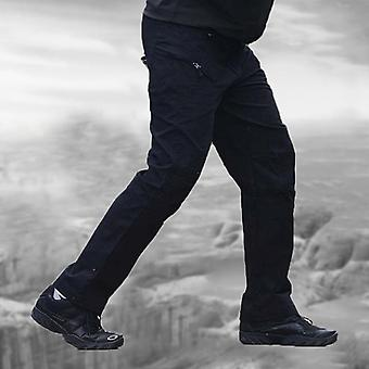 Men Casual Cargo Pants Elastic Outdoor Hiking Trekking Army Tactical Sweatpants
