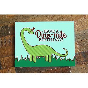 Dinosaur Print Birthday Card