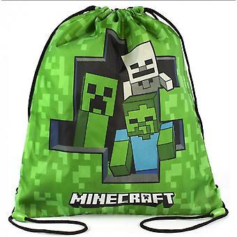 Minecraft Creeper Zombie Skeleton Gym Taske Sko taske