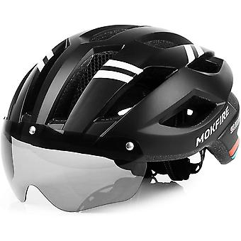 MOKFIRE Bike Helmet Mountain Bicycle Helmets with Safety LED