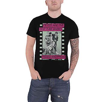 Peter & The Test Tube Babies T Shirt Pissed And Proud new Official Mens Black