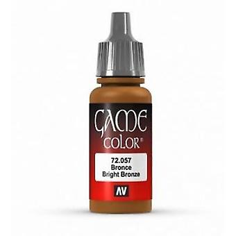 Vallejo Game Color 17ml Acrylic Paint 57 Bright bronze