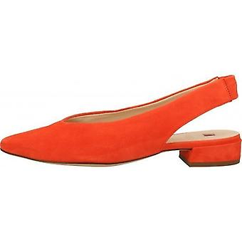 Hogl easy red low heels womens red