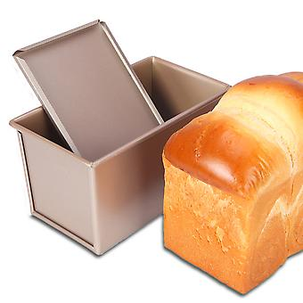 2lb Non-stick Loaf Tins, Toast Bread Baking Tins Flat
