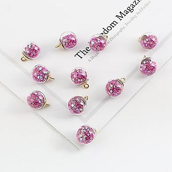 Transparent Glass Ball Charm Pendant For Bracelet Necklace, Jewelry Making