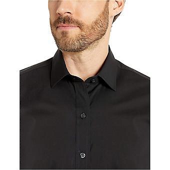 Merk - BUTTONED DOWN Men's Slim Fit Performance Tech Stretch Dress Shirt, Supima Cotton Easy Care