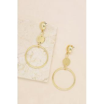 The In Crowd 18k Gold Plated Dangle Earrings