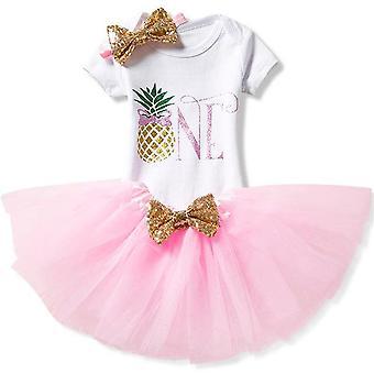 Lovely Girls Romper Skirt + Headband Outfit , Design 14