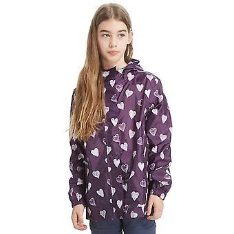 Neue Peter Storm Mädchen gemusterte Packbare Jacke lila