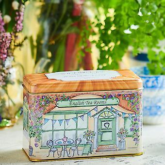 Salas de chá inglesas vintage lata de chá 40 teabags
