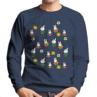 Miffy Sunflower Montage Men's Sweatshirt