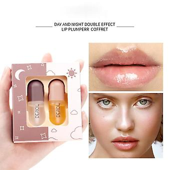 Day And Night Lip plumper Suit Instant Volumising Brighten Lip Color Lip oil Long-lasting Moist Reduce Lip gloss
