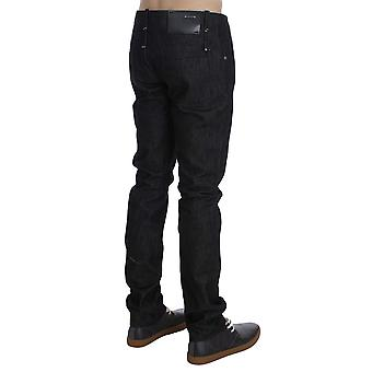 Acht Black Cotton Slim Skinny Fit Jeans