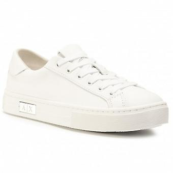 Women's Shoes Armani Exchange Sneaker In White Leather D21ax03