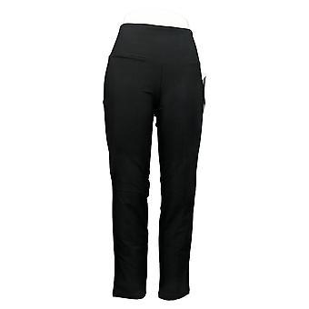 Vrouwen met Control Women's Petite Pants Tummy Control Zwart A284090