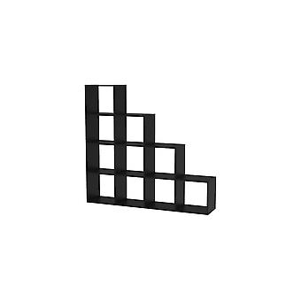 "Estantería ""Leora"" - 146 x 29 x 138,5 cm - Negro"