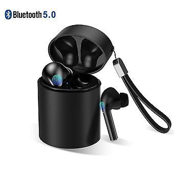 Auriculares inalámbricos en la oreja con bolsa de carga - negro
