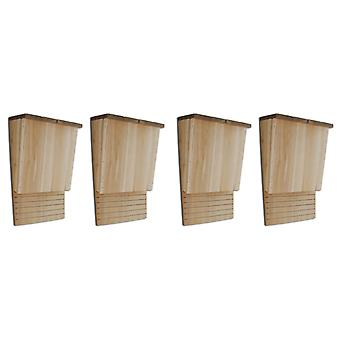 vidaXL Bat Houses 4 pcs. 22 x 12 x 34 cm wood
