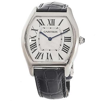 Cartier Tortue Silvered guilloche Dial Herrklocka W1556363