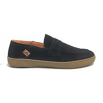 Pantofi pentru barbati Ambitioasa 11527 Navy Blue Suede Moccastine Us21am17