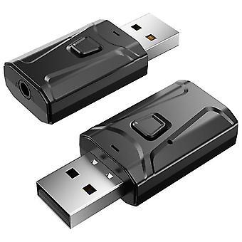 Langaton Bluetooth-vastaanotin (musta Bluetooth V5.0)